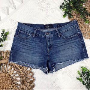 Lucky Brand The Cut Off Frayed Hem Denim Shorts